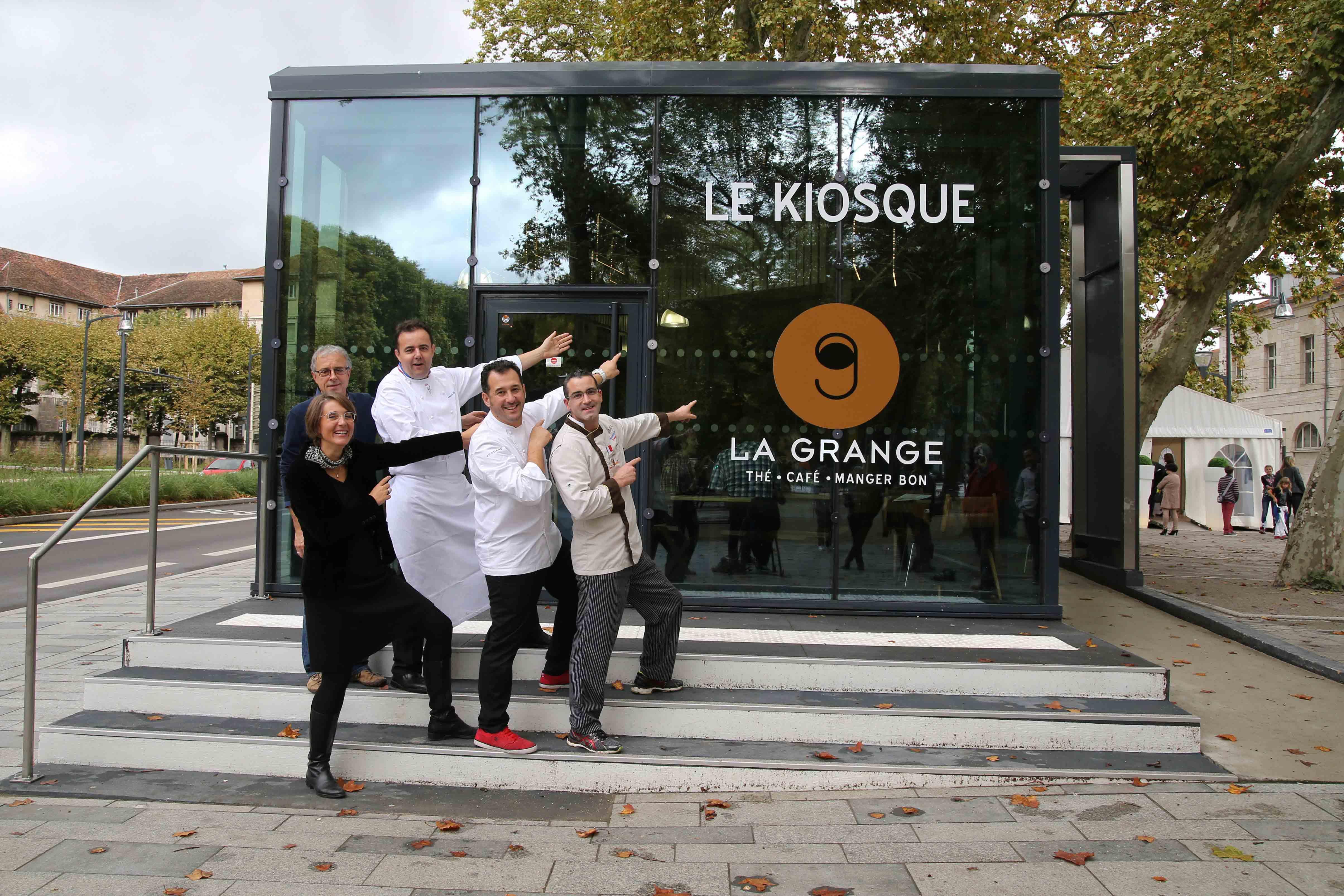 Inauguration le Kiosque - La Grange- Romuald Fassenet , Alexandre Figard , Xavier Brignon et Barbara Ballot
